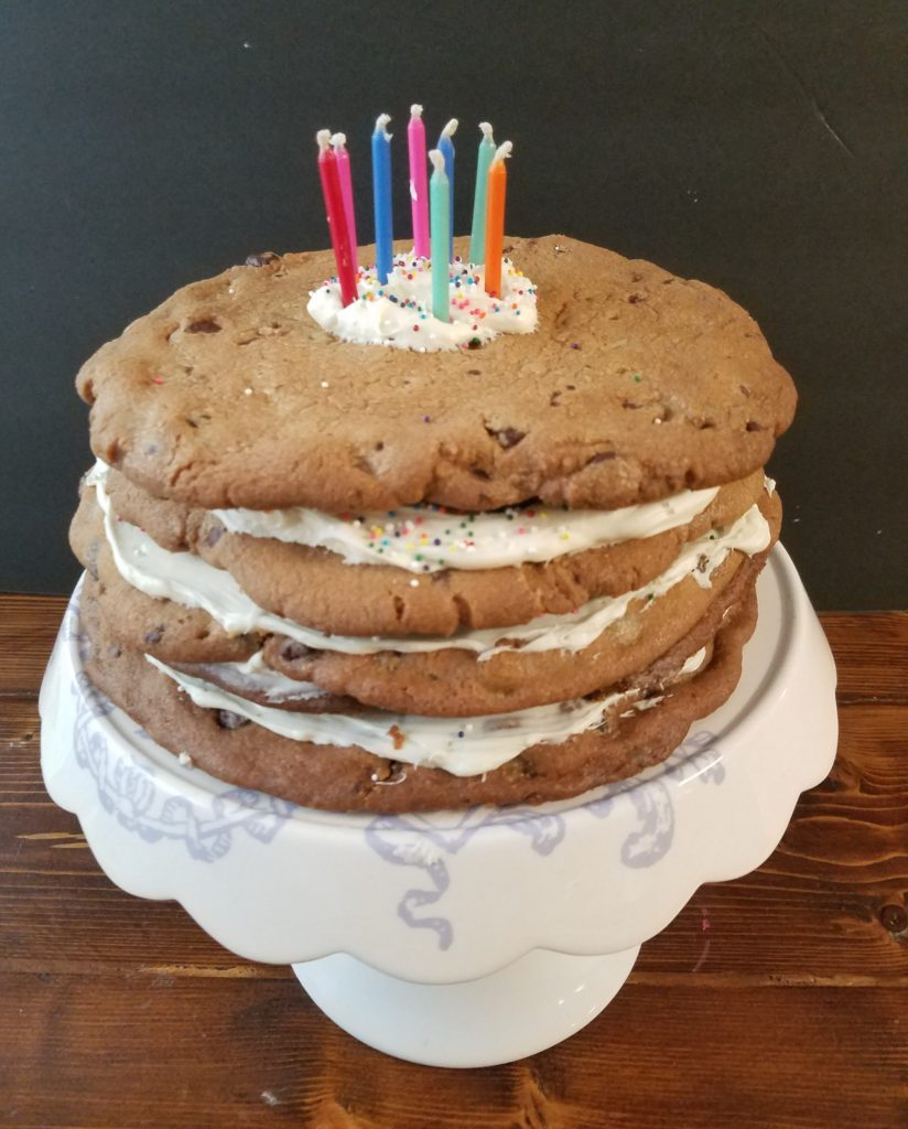 My Birthday Girl Was Happy And Thats All That Matters Let Me Know If You Try Out This Super Easy 5 Layer Chocolate Chip Cookie Cake